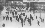 1908 : Récréation durant l'hiver
